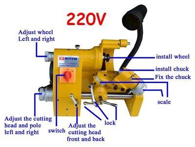 Ce U2 Universal Cutter Grinder Sharpener For End Milllathe Cutter Other 220v
