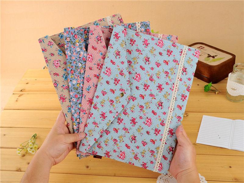 Floral A4 Paper File Folder