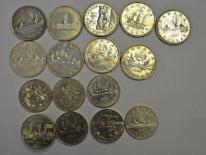 Set of 16 Canadian Silver and Non-Silver Dollar Coins for Sale