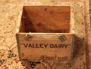 Vintage Valley Dairy Crate