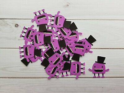 Purple Halloween Monster Die Cuts Embellishments Punchies, Punches, Scrapbooking