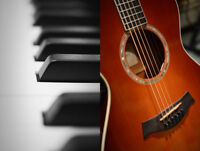 Piano or Guitar Lessons:  only $30 total for an entire month!!!!