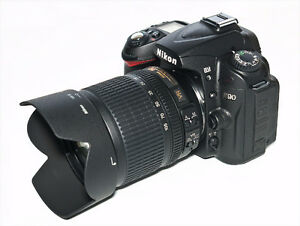 Nikon D90 DSLR with two VR lenses +extra's like new