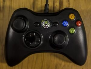 BLACK WIRELESS XBOX 360 CONTROLLER + PLUG & PLAY KIT