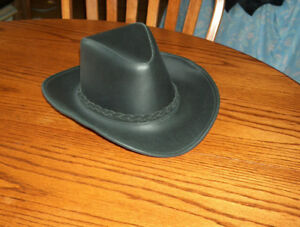 Mens Leather Hat ( Canadian Made Rawhide)L