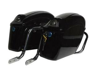 Black Motorcycle side boxs Luggage Tail Motorcycle Tank Bag motorcycle trunk 239067