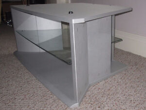 Silver TV Stand with Two sections 39x19.5x17inches Cambridge Kitchener Area image 2