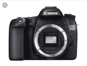 Canon 70d, 10-18mm,  50mm 1.4 lens Sold together OR separately