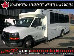 2014 Savana Express 19 PASSENGER BUS w/ WHEEL CHAIR ACCESS