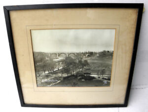 1922 Vintage Photo Picture Don Valley & Bloor Viaduct