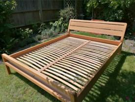 Habitat Radius Solid Oak EU King Size Bed Frame