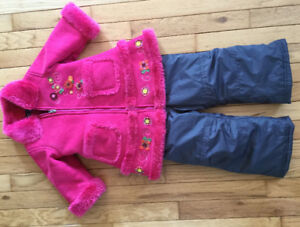 Girls Winter Coat and Snow Pants Size 18 Months