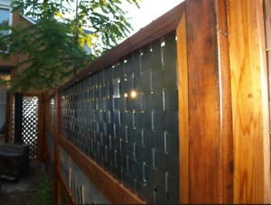 Woven Stainless & Cedar Privacy Panels