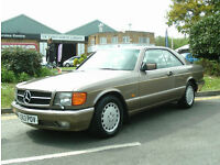 Mercedes-Benz 500 5.0 auto SEC RARE CLASSIC IN MERCEDES ORIGINAL COLOUR