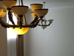 Chandelier and Drapes/Curtains for sale
