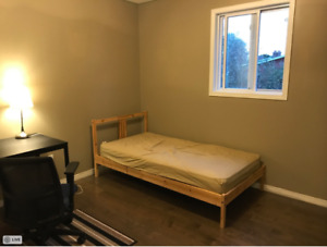 A spacious and clean room available
