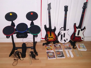 Gros set hero band pour le wii
