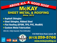 Roofers with some experience with Steel, Epdm, TPO, Mod BIT