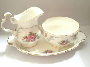 Royal Albert TRANQUILLITY Sugar Bowl and Creamer Bone China