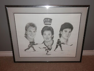 Gretzky, Lemieux and Hull Signed Limited-Edition lithograph