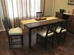 Dark Brown Dining Set