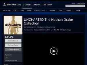 Uncharted The Nathan Drake Collection is $25 onplaystation store