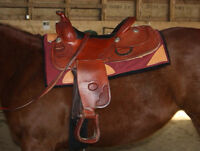 """16"""" Billy Cook reining saddle (good for trails too)"""