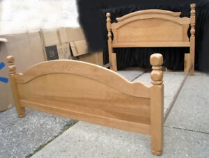 Solid Wood Double/Queen Bed frame, delivery extra $$,read inside