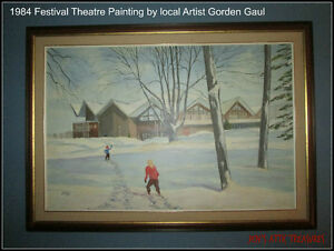 1984 Painting of the Stratford Festival Theatre Stratford Kitchener Area image 1
