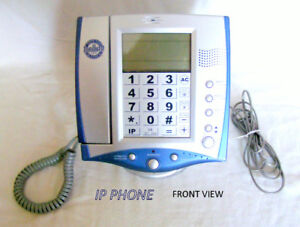 Telephone – conventional dial with IP; ID, Hold, auto dial, etc