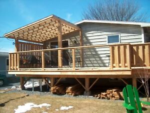 3 Pieces Tempered Glass Panels for Deck