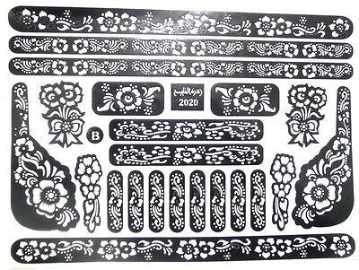 Henna Schablone Henna Vorlage Tattoo Muster Für *Tube paste Kina Stift mehndi*