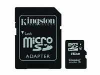 Kingston Digital 16GB Class 4 microSDHC Card with SD Adaptor NEW