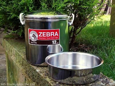 12CM STAINLESS STEEL ZEBRA BILLY CAN COOKING POT BUSHCRAFT SURVIVAL CAMPING
