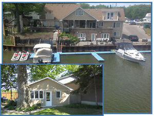 Wasaga beach prime cottage and boat slip rentals