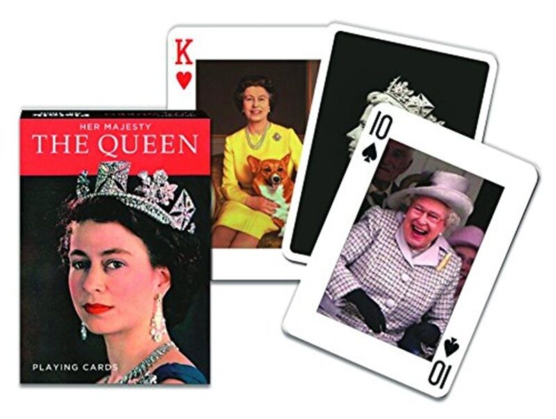 HM Queen Elizabeth II set of 52 playing cards + jokers (gib)