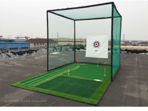 Golf Practice Net Foldable Golf Hitting Cage Practice Net Network Training Aid