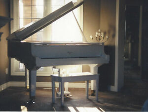 Treasured White Baby Grand Piano
