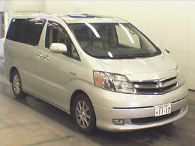 FRESH IMPORT 57 PLATE TOYOTA ALPHARD 2.4 HYBRID PETROL AUTO ELECTRIC SIDE DOORS