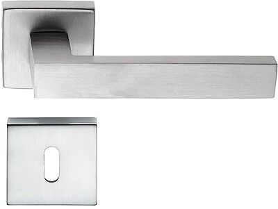 Maniglie per porte interne Quadra50mm x 50mm cromo satinato moderna squadrata