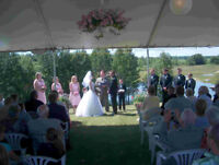 Outdoor wedding venue on a scenic blueberry farm
