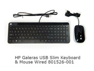 HP  USB Slim Keyboard & Mouse