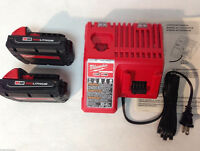 M18™ RED LITHIUM™ Compact Battery Packs (2) , M18™ Charger