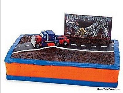 TRANSFORMERS Movie Cake Set Decoration Topper Kit Cupcake Birthday Robots Boy - Transformer Cakes