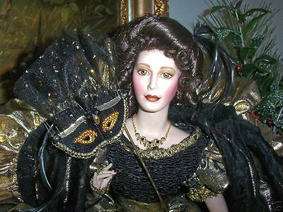 "NRFB 1989 $400 FABERGE DOLL WAR & PEACE QUEEN OF MASQUERADE ST PETERSBURG  23""   for sale  Anniston"