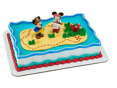 Mickey Minnie Mouse Pirate figurines cake decoration Decoset cake topper set toy - Minnie Mouse Cake Decoration