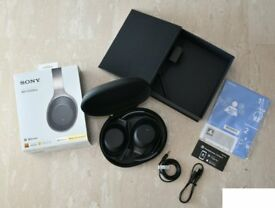 Sony WH-1000XM2 Wireless Over-Ear Noise Cancelling Hi-Res Headphones Bluetooth, as new