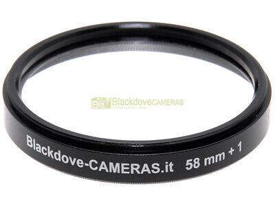 58mm. filtro aggiuntivo macro +1 diottria Blackdove-cameras. Lente close-up.