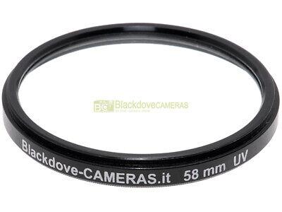 58mm. filtro UV Blackdove-cameras Lente ultravioletto per obiettivi 58 mm Filter