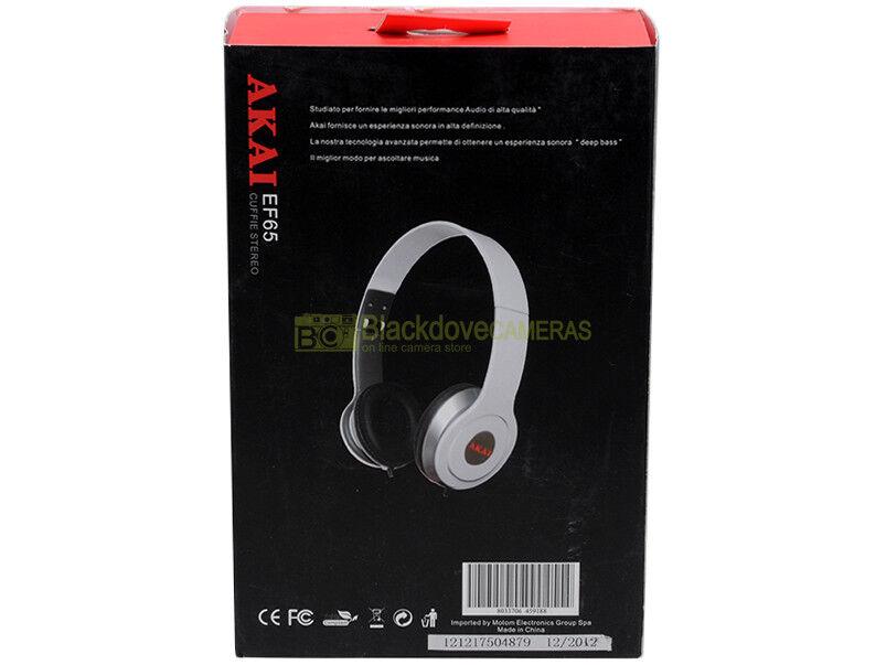 Akai EF65 cuffie stereo ripiegabili con jack 3,5mm. 8Hz-30000Hz 100mW cavo 1,2m.